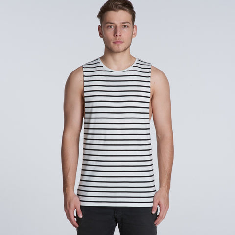 AS Colour Barnard Stripe Tank Tee - Navy/White