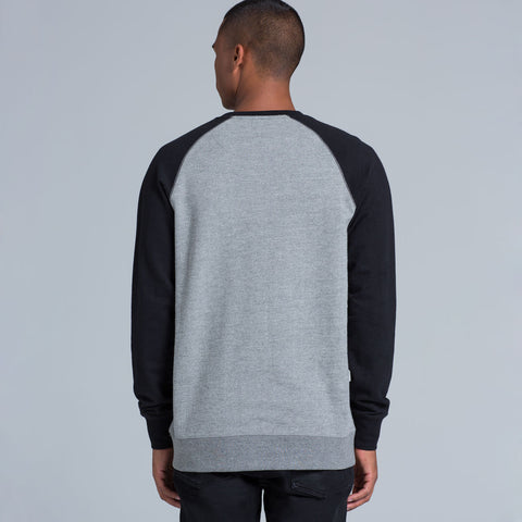 AS Colour Contrast Crew - Steel Marle / Black