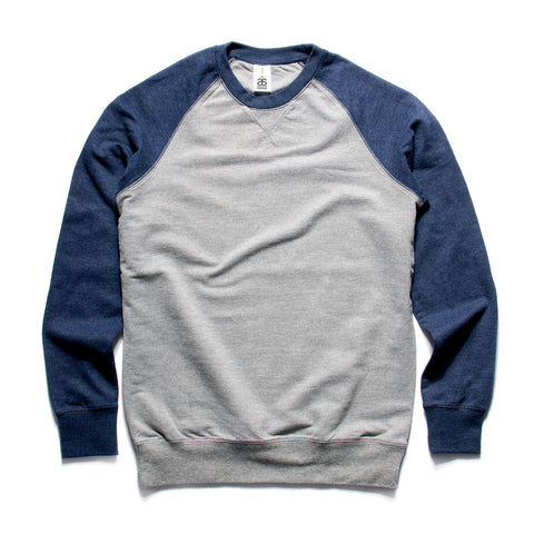 AS Colour Contrast Crew - Steel Marle / Navy Marle