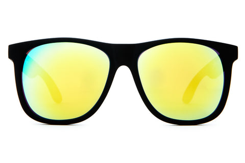 Crap Eyewear Beach Party - Flat Black w/ Reflective Yellow Lenses
