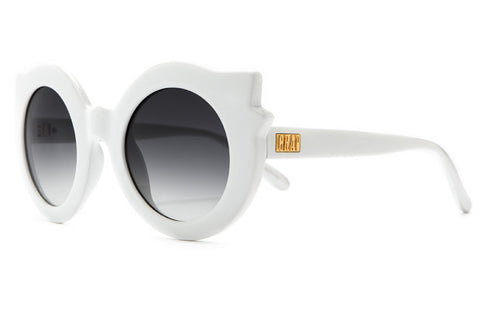 Crap Eyewear Hanoi Weekend - Gloss White w/ Grey Gradient CR-39 Lenses