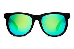 Crap Eyewear Nudie Mag - Flat Black w/ Green Reflective Lenses