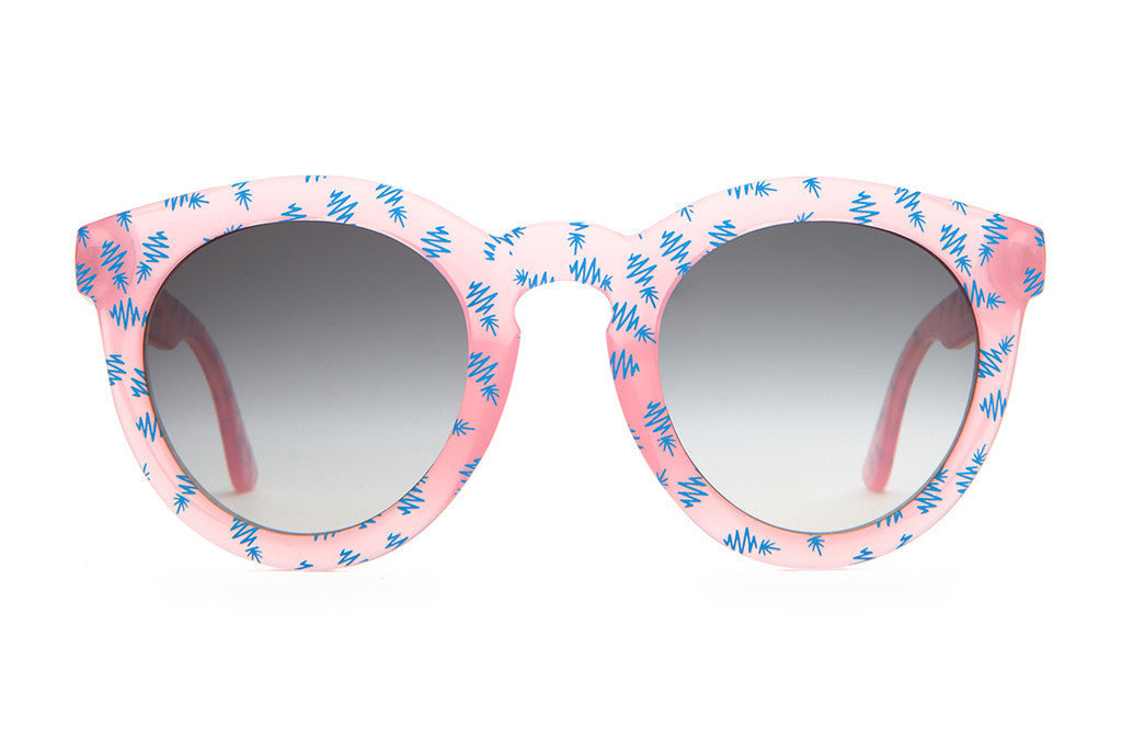 Crap Eyewear T.V. Eye - Gloss Semitranslucent Cotton Candy & Blue Pineapples w/ Grey Gradient CR-39 Lenses