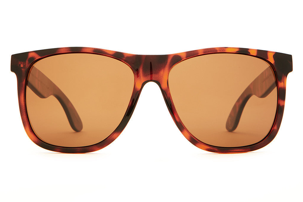 Crap Eyewear Beach Party - Gloss Brown Tortoise w/ Polarized Amber Lenses