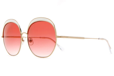 Crap Eyewear Cloud Magic - Brushed Gold Wire & White Enamel Inlay w/ Rose Gradient CR-39 Lenses