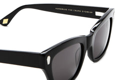 Crap Eyewear The Cosmic Highway - Gloss Black Acetate w/ Grey CR-39 Lenses