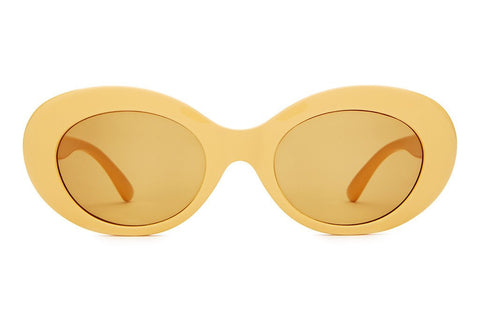 Crap Eyewear The Love Tempo - Gloss Sunshine Yellow w/ Mustard CR-39 Lenses