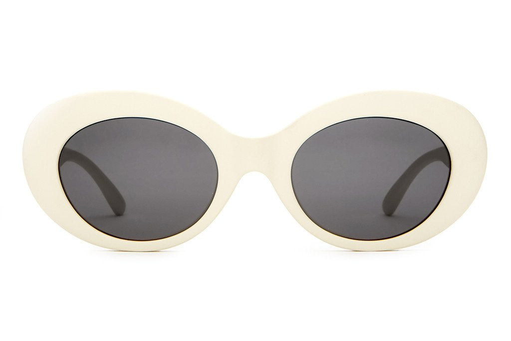 Crap Eyewear The Love Tempo - Matte Eggshell White w/ Grey CR-39 Lenses