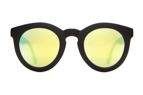 Crap Eyewear T.V. Eye Sunglasses - Flat Black w/ Reflective Yellow Lenses