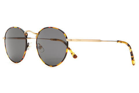Crap Eyewear Tuff Patrol - Jungle Tortoise Rims & Brushed Gold Wire w/ Grey CR-39 Lenses