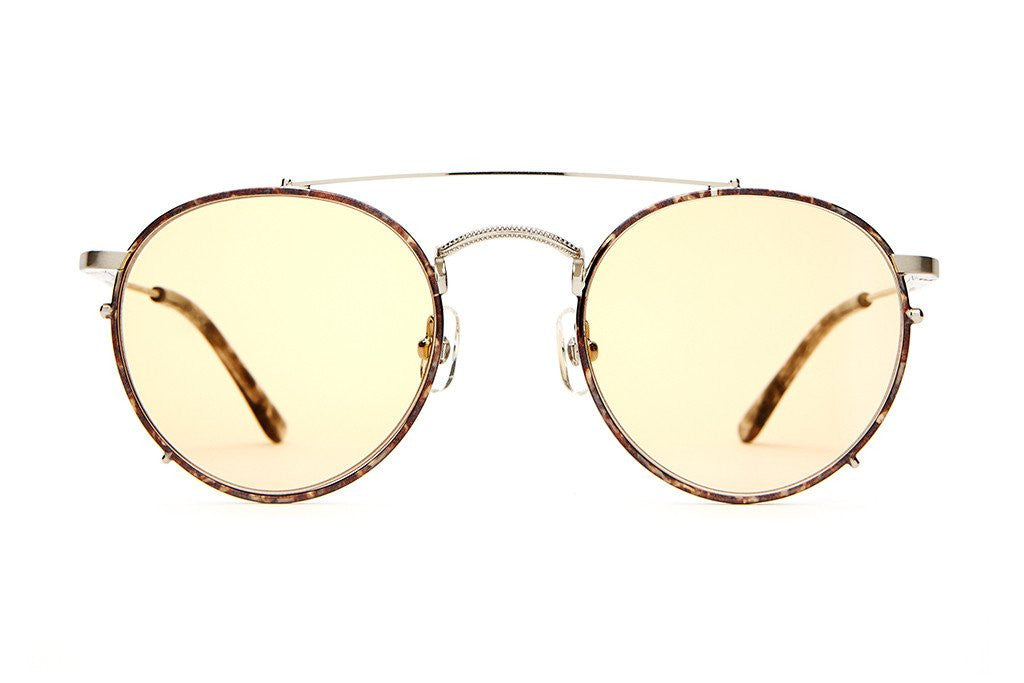Crap Eyewear Tuff Safari  - Espresso Rims & Brushed Silver Wire w/ Zero Base Gold Tint CR-39 Lenses