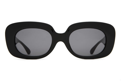 Crap Eyewear The Velvet Mirror - Gloss Black w/ Grey CR-39 Lenses