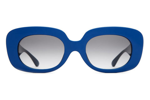 Crap Eyewear The Velvet Mirror - Gloss Sapphire Blue w/ Grey Gradient CR-39 Lenses