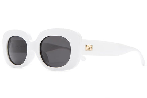 Crap Eyewear The Velvet Mirror - Gloss White w/ Grey CR-39 Lenses