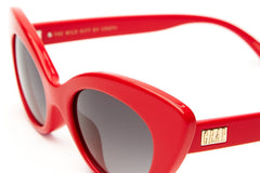 Crap Eyewear Wild Gift - Gloss Cherry Red w/ Grey Gradient CR-39 Lenses