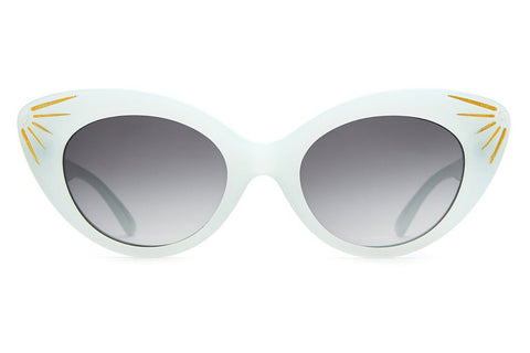 Crap Eyewear Wild Gift - Powder Blue & Sunray Accents w/ Grey Gradient CR-39 Lenses