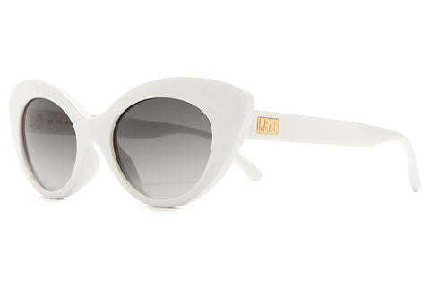 Crap Eyewear Wild Gift - Gloss White w/ Grey Gradient CR-39 Lenses