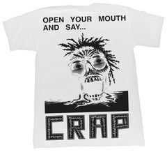 Crap Eyewear Open Your Mouth Tee - White