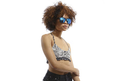 Crap Eyewear The Beach Party - Flat Black w/ Blue Reflective Lenses