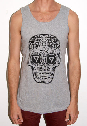 MOOMBAHDON Singlet - Heather Grey Singlet