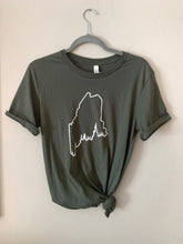 Load image into Gallery viewer, Pine Tree Coast Line T-Shirt