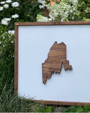 Load image into Gallery viewer, 3D Maine Pine Tree Coast Framed Sign