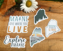 Load image into Gallery viewer, Maine Love Where You Live Sticker