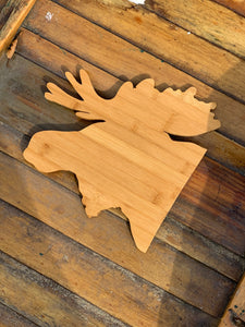 Moose Bamboo Cutting Board