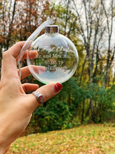 Load image into Gallery viewer, Custom Etched Glass Ornament