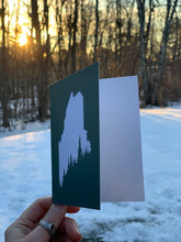 Load image into Gallery viewer, Eco-friendly Maine Pine Tree Coast Greeting Card