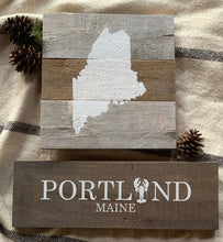 Load image into Gallery viewer, Portland Maine Painted Sign | Custom Location Sign
