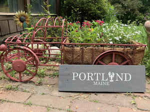 Portland Maine Painted Sign | Custom Location Sign