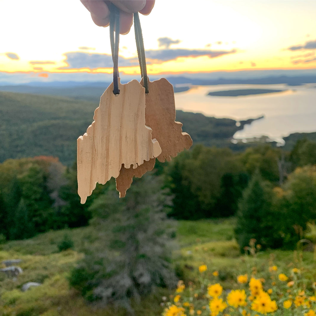 Reclaimed Wood Maine Ornaments