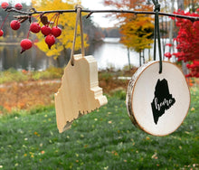 Load image into Gallery viewer, Reclaimed Wood Maine Ornaments
