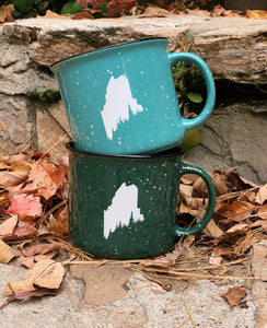 Maine Pine Tree Coast Outdoor Adventure Mug
