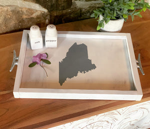 Wooden Tray with Handles