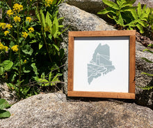 Load image into Gallery viewer, Maine Lighthouse Framed Sign