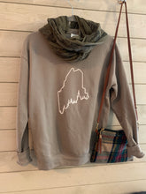 Load image into Gallery viewer, Maine Pine Tree Coast Line Crewneck