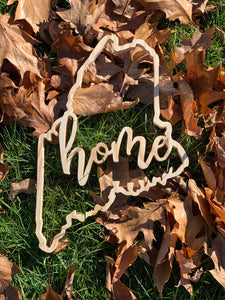 Maine Home Outline Sign