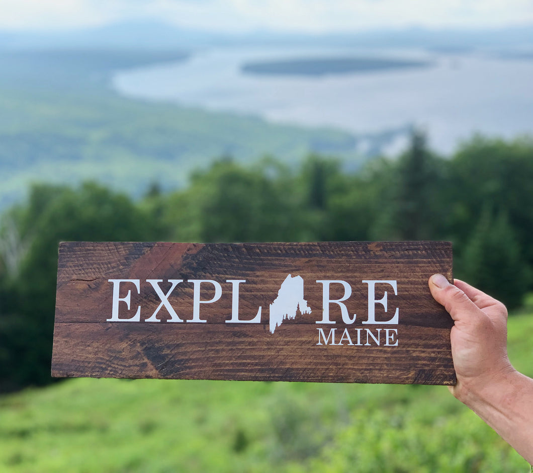Explore Maine Painted Sign