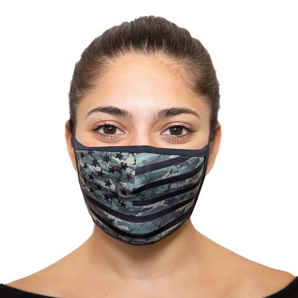 Bulk Pack - American Flag Reusable Face Masks