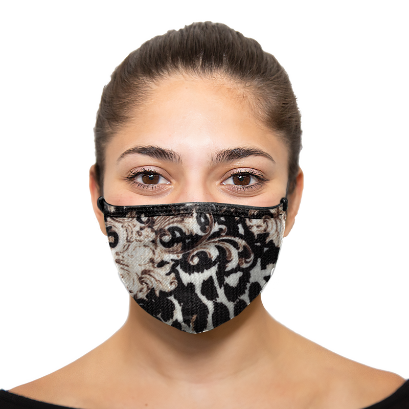 Floral Cheetah - Printed Reusable Mask - Wholesale