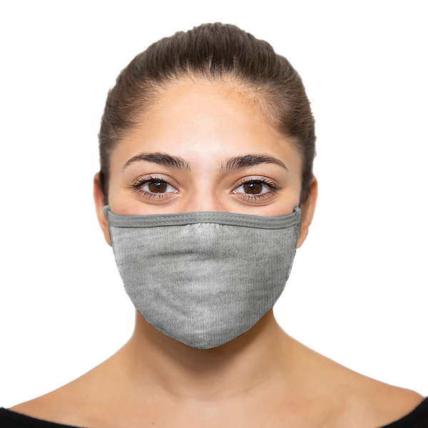 Heather Grey - Reusable Cloth Mask - Wholesale