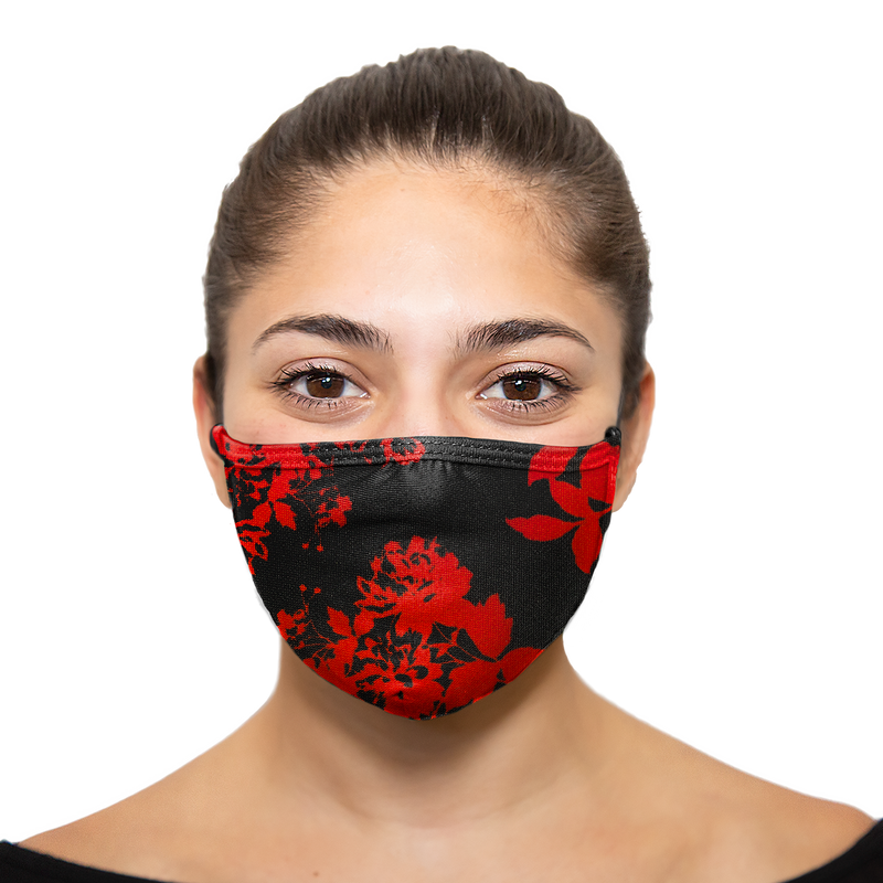 Victoria Roses - Printed Reusable Mask - Wholesale