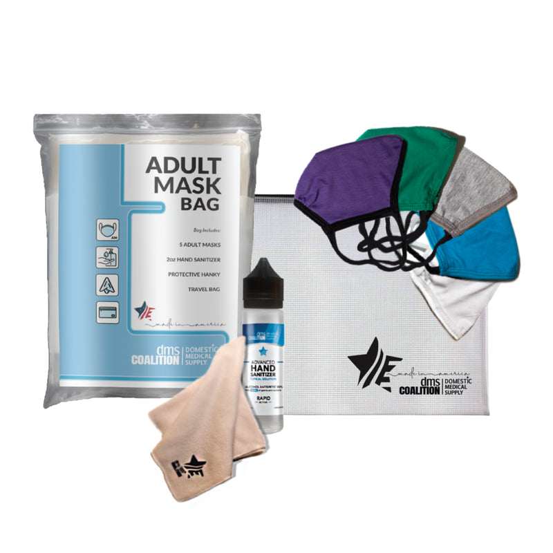 Adult Mask Bag Set - Wholesale