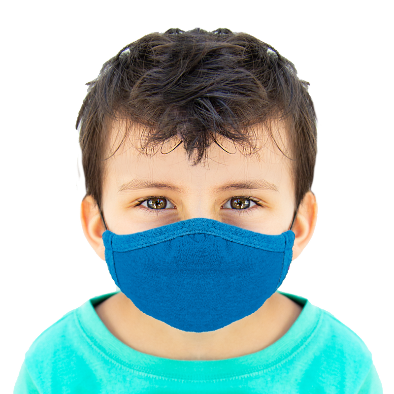 Blue - Kids Cloth Mask - Wholesale