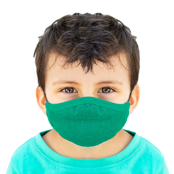 Green - Kids Cloth Mask - Wholesale