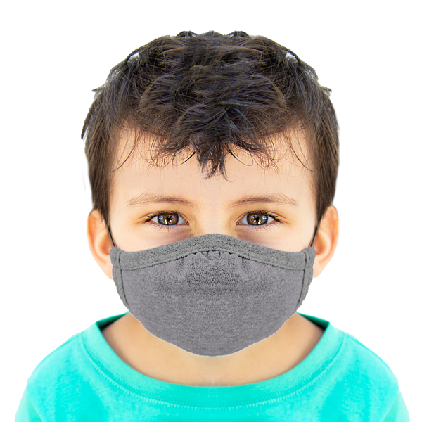 Grey - Kids Cloth Mask - Wholesale