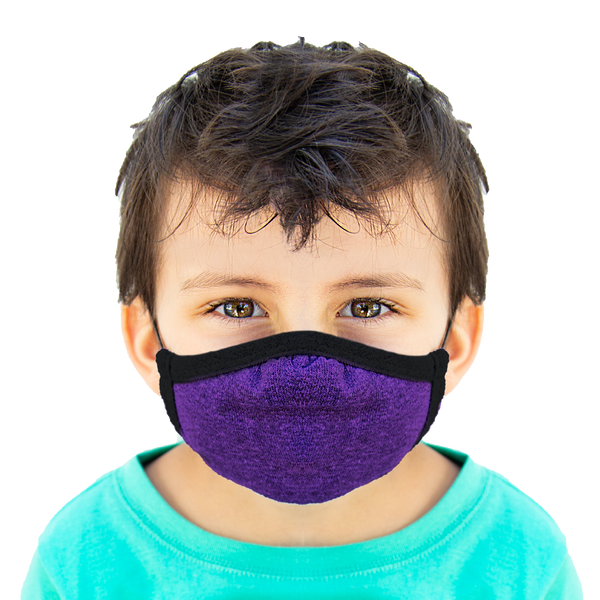 Purple - Kids Cloth Mask - Wholesale