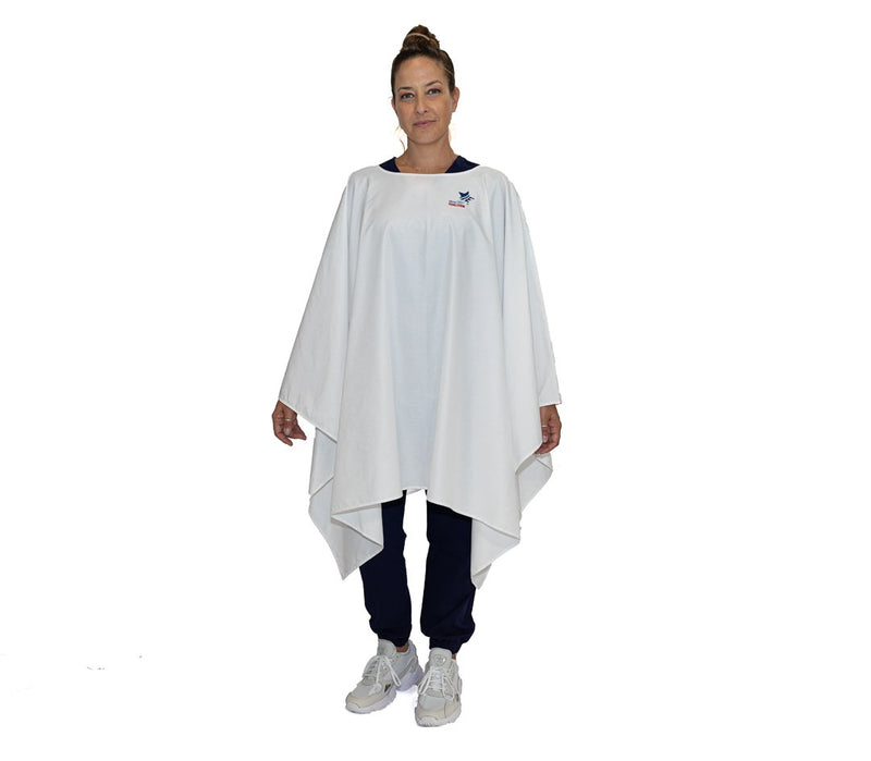 White - Level 1 Freedom Reusable Protective Poncho - Wholesale